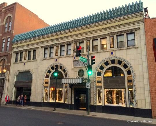 The Art Deco S&W Cafeteria Building in Asheville, North Carolina.