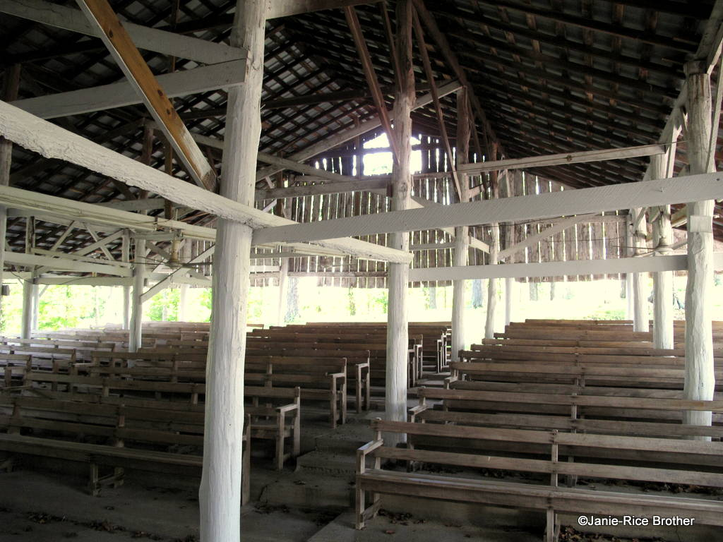 The interior of the shed at Hurricane Camp.