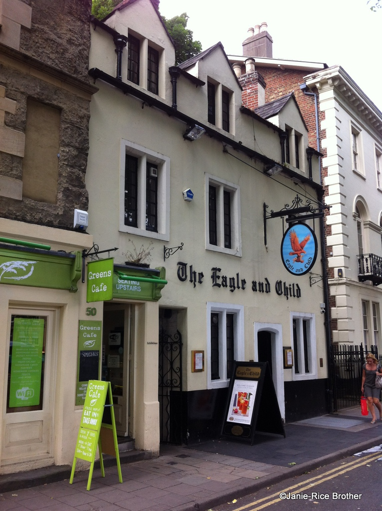 The Eagle and Child in Oxford, England.