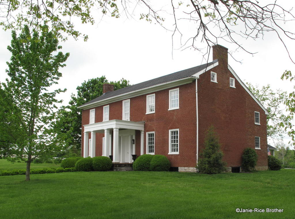 The Forsythe-Shewmaker House, listed in the NRHP in 2012, was built between 1830-32. It is an important local example of transitional Federal-Greek Revival architecture in the Bluegrass.