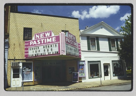 The Nee Pastime Theater in happier days - undated slide from the collection of Dr. Karl Raitz, University of Kentucky Special Collections.