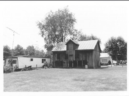 The barn originally associated with the Henry Clay Peak House - alas, no longer standing. Photograph from the National Register of Historic Places files.