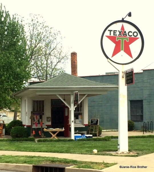 A restored Texaco station in Paducah, Kentucky.