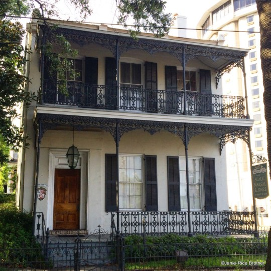 Iron work is a mainstay on historic 19th-century dwellings in Mobile.