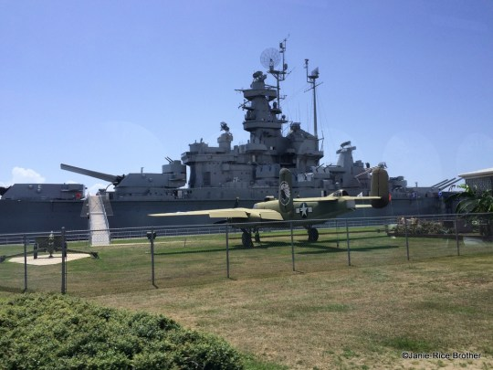 The USSS Alabama in Mobile Bay.