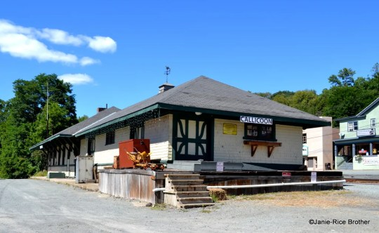 The circa 1899 railroad depot in Callicoon.