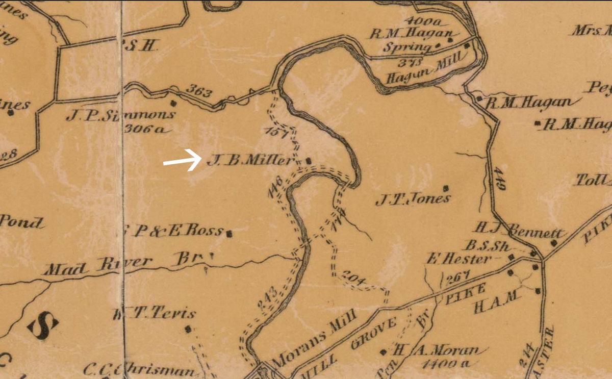 1876 Map of Madison County Kentucky Richmond