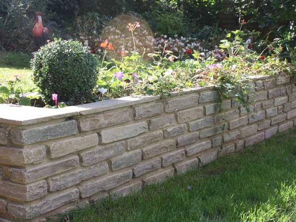 how to build a small garden wall diy