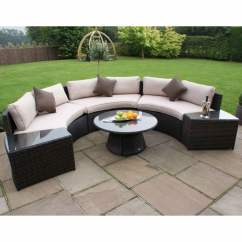 Maze Rattan Half Moon Sofa Set Grey Carpet Colors For A Light Brown Garden Street