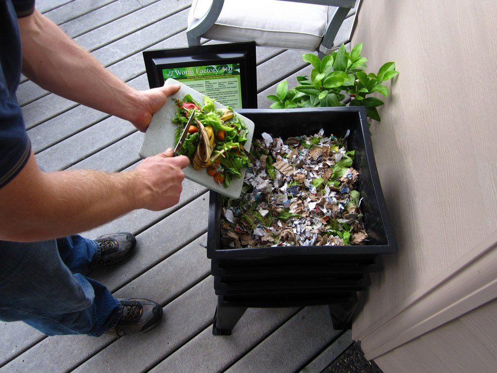 Shredded Paper And Kitchen Scraps Are Recycled Into A Nutrient Rich Soil  That Is Perfect For Organic Gardens. The Worm Composting Bins Can Be A Bit  Messier ...