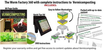 Worm Factory 360 includes full instructions and DVD