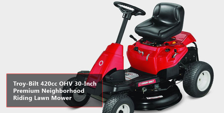 Troy-Bilt 420cc OHV 30-Inch Premium Neighborhood Riding Lawn