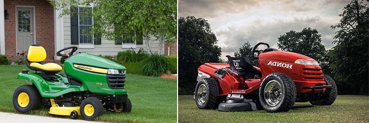 John Deere and Honda mower