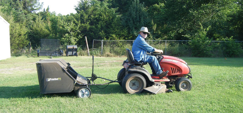 Leaf Sweeper Mower Attachment