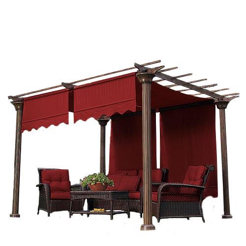 Universal Designer Replacement Pergola Shade Canopy II Garden Winds