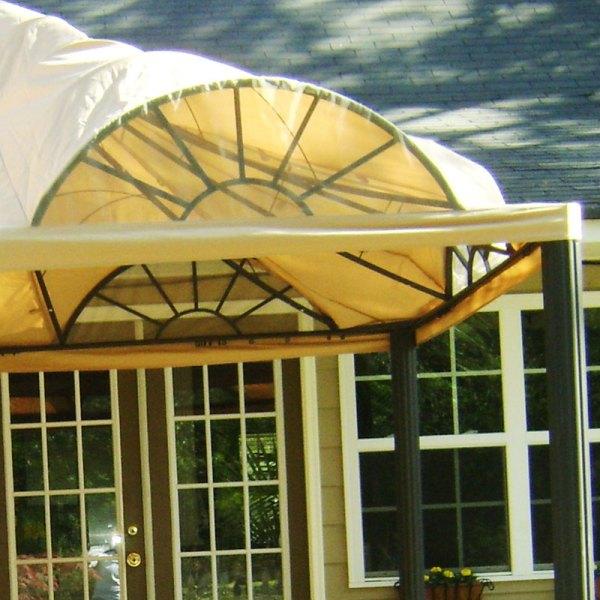 Garden Treasures 10' X 12' Arched Window Gazebo 243812 Winds