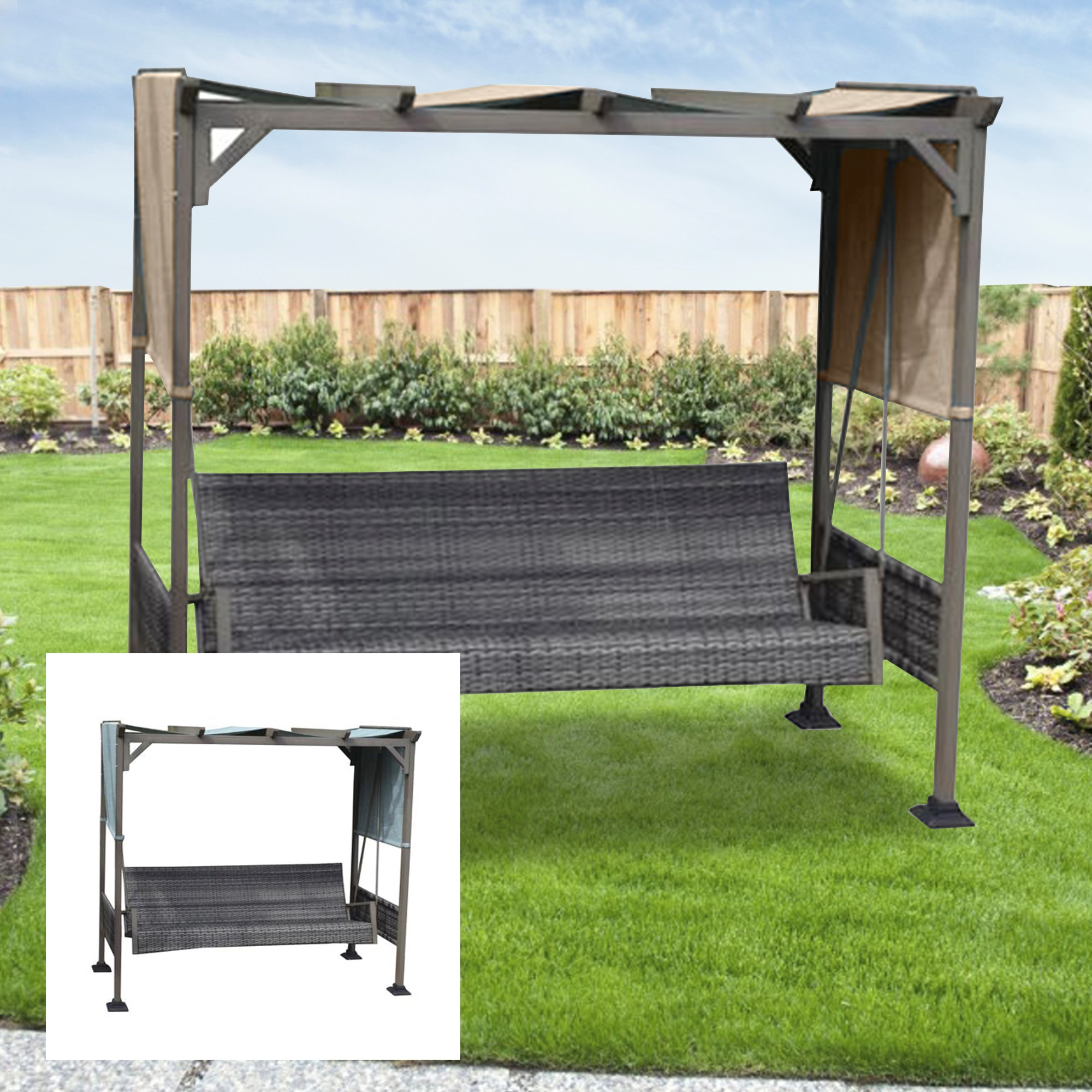 menards replacement swing canopy