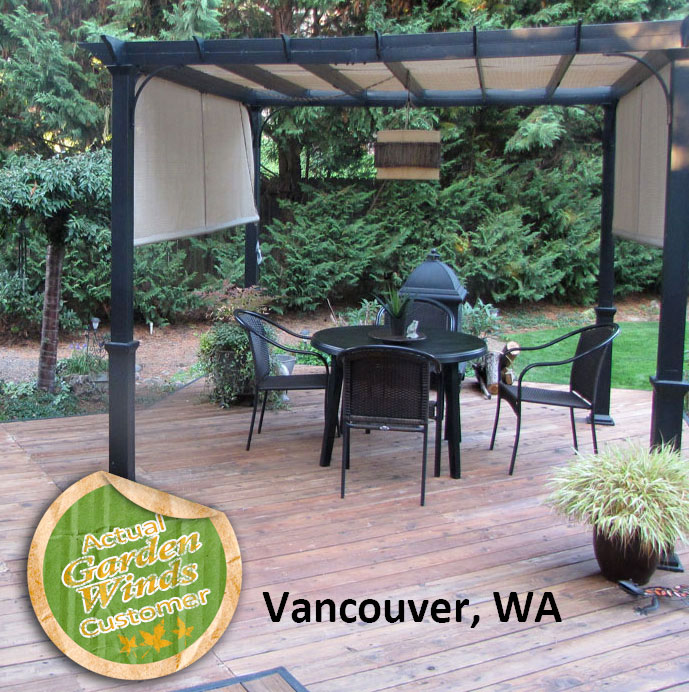 Lowes Garden Treasures 10 Ft Pergola Replacement Canopy S