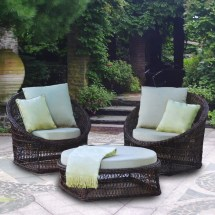Costco 3 Piece Wicker Replacement Cushion Set Garden Winds