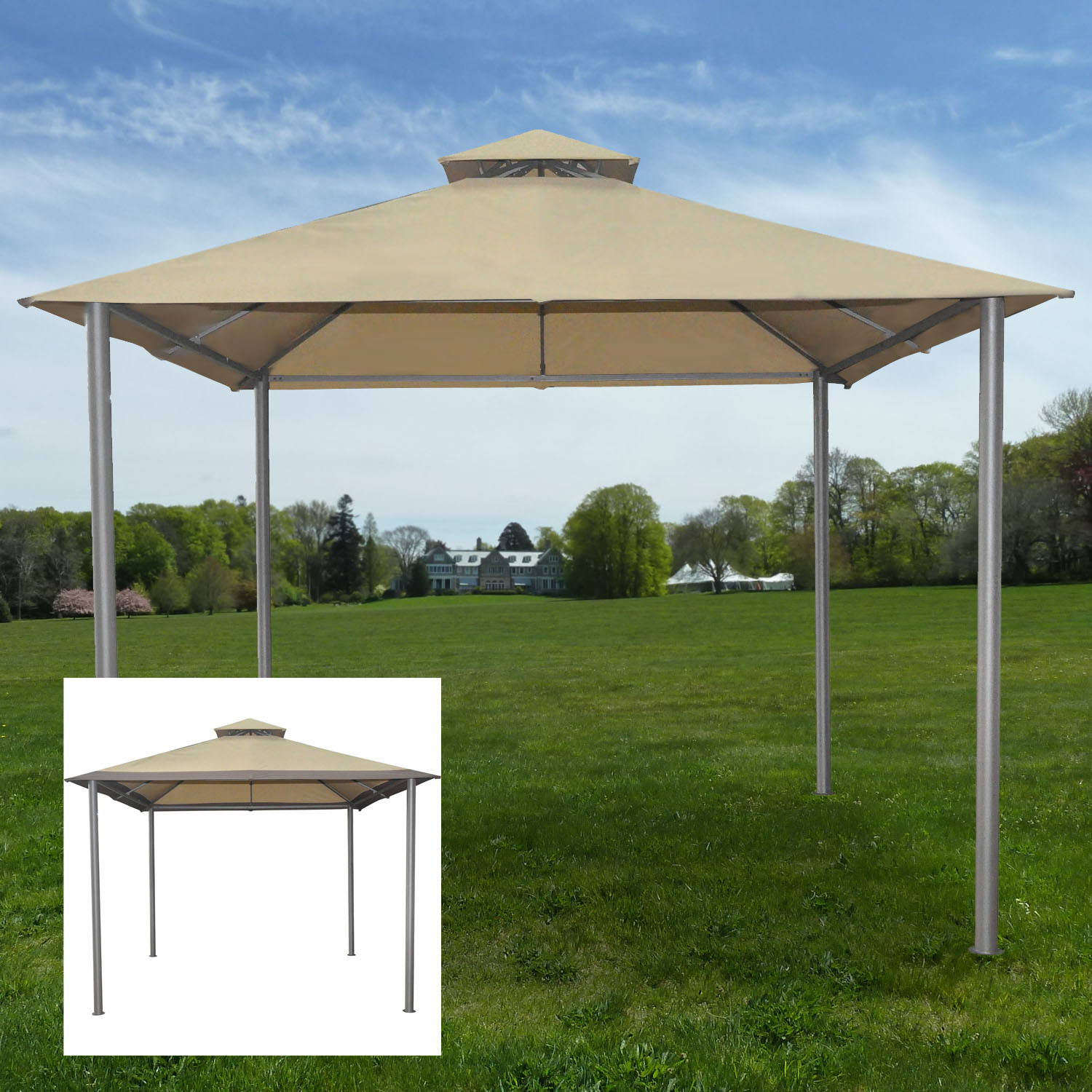 Replacement Canopy For Savvi Gazebo Riplock 350 Garden Winds