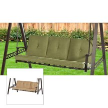 Lowes 3 Person Swing Replacement Cushion - Beige Garden Winds