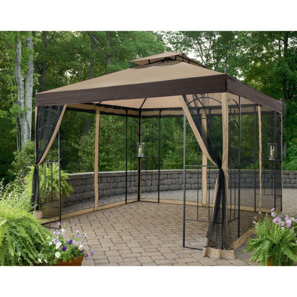 Kmart Essential Garden 10x10 Arrow Gazebo Replacement Canopy And Netting Winds