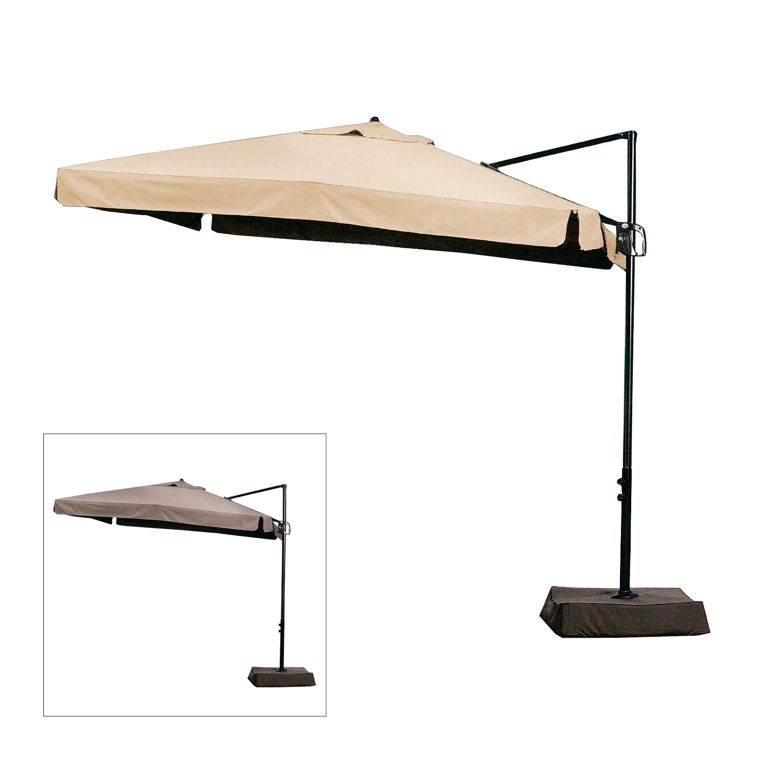 Replacement Canopy for Square Offset Umbrella Garden Winds