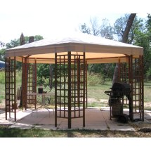 Sam' Club Wood Hexagon Gazebo Garden Winds