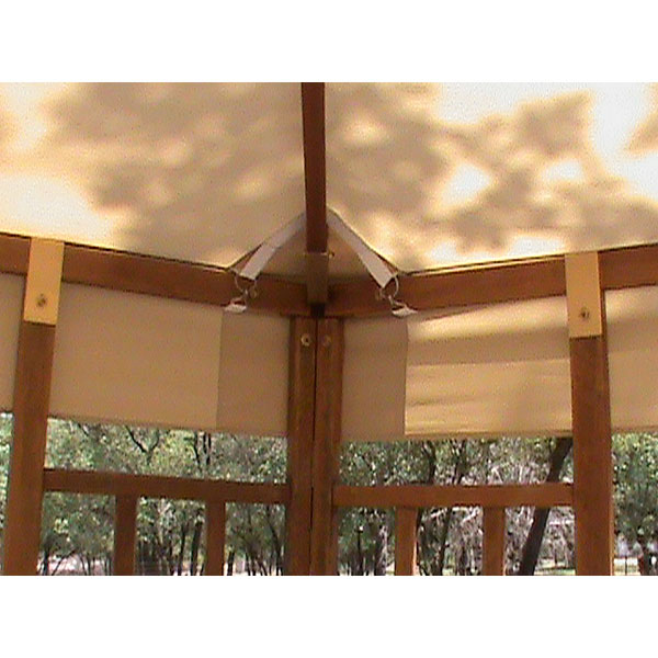 Sams Club All Wood Hexagon Gazebo Garden Winds