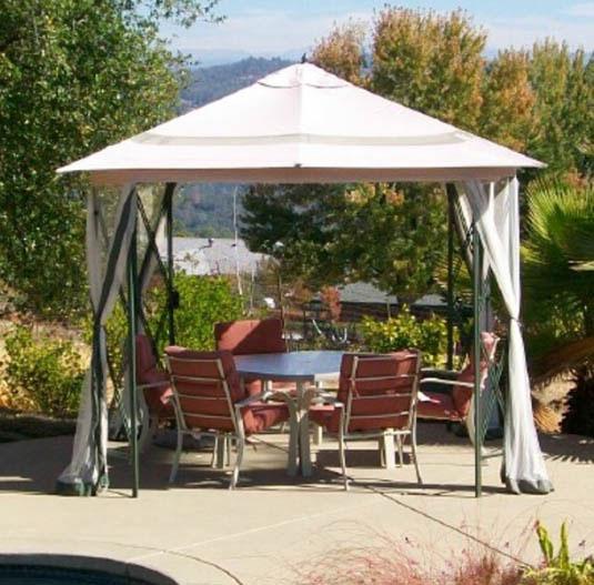 Kmart Marth Stewart Belmont Gazebo Replacement Canopy Garden Winds