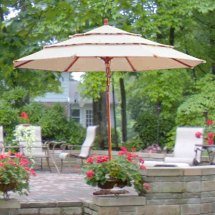 11 Ft Triple-tier Umbrella Replacement Canopy 445865