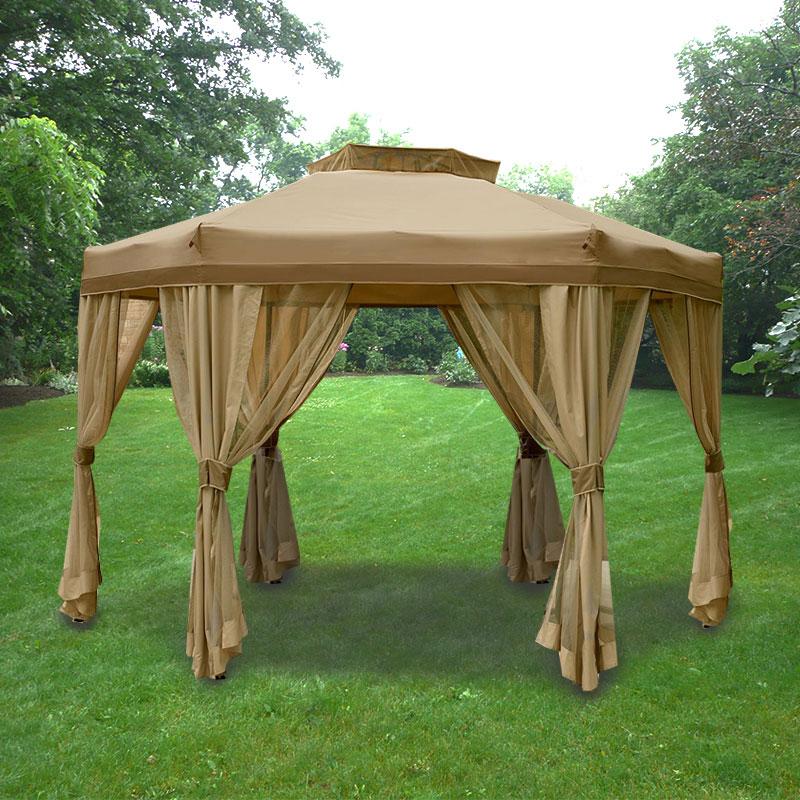 Garden Oasis Portable Hexagon Replacement Canopy Garden Winds