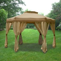Garden Oasis Portable Hexagon Replacement Canopy Winds