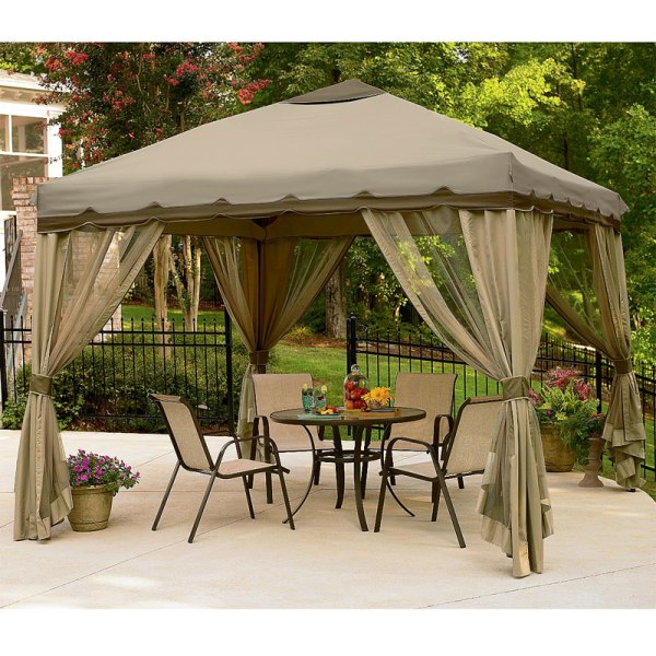 10 X Portable Gazebo Replacement Canopy Garden Winds