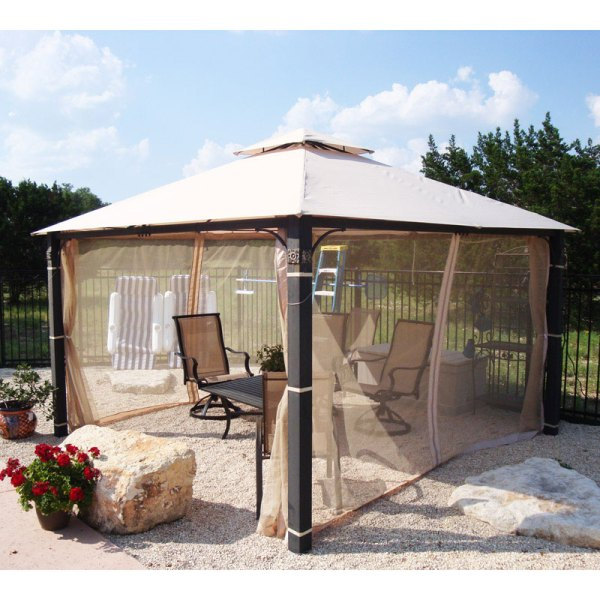 Academy 12' X Square Two-tiered Gazebo Replacement Canopy Garden Winds