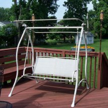 Garden Treasures 2-person -frame Sling Swing Rts-483a
