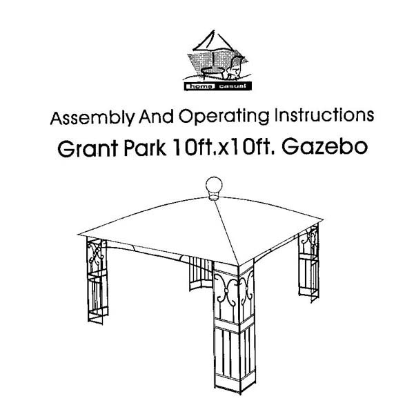 Home Casual Meijer Grant Park Dome Top Gazebo Replacement