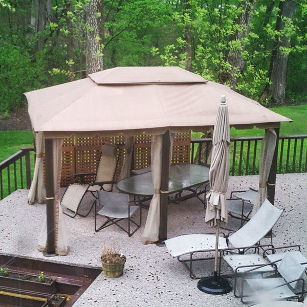 10 X 13 Gazebo Replacement Canopy Gaz-434714 Garden Winds