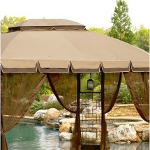 Trellis Gazebo Replacement Canopy Garden Winds
