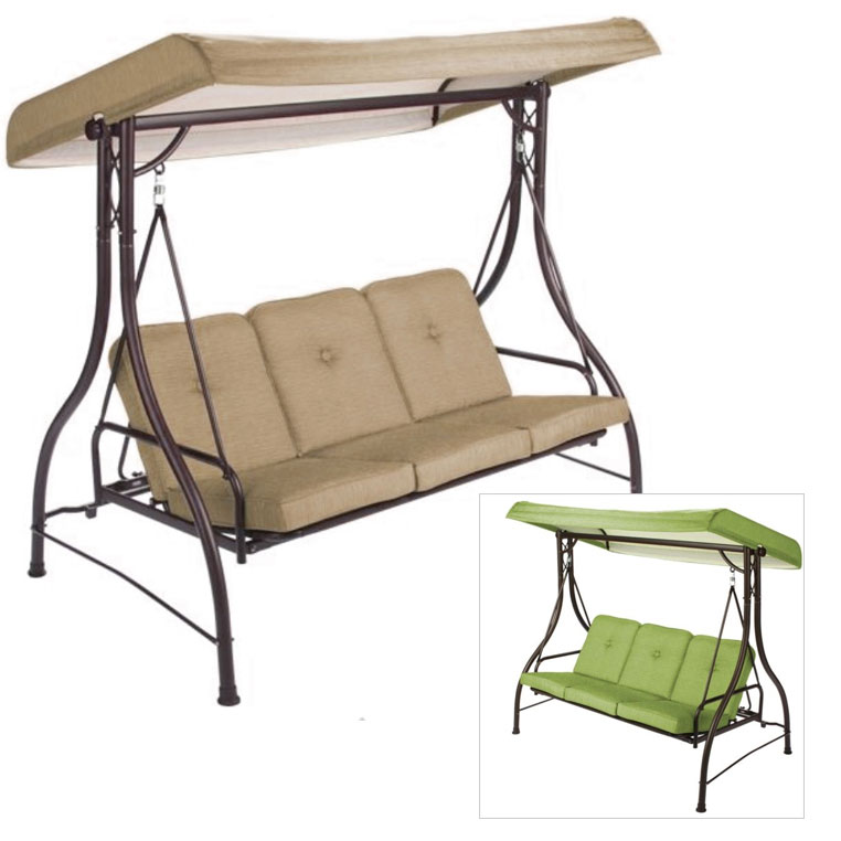 swing chair canopy replacement covers direct mainstays lawson ridge 3 person hammock riplock 350