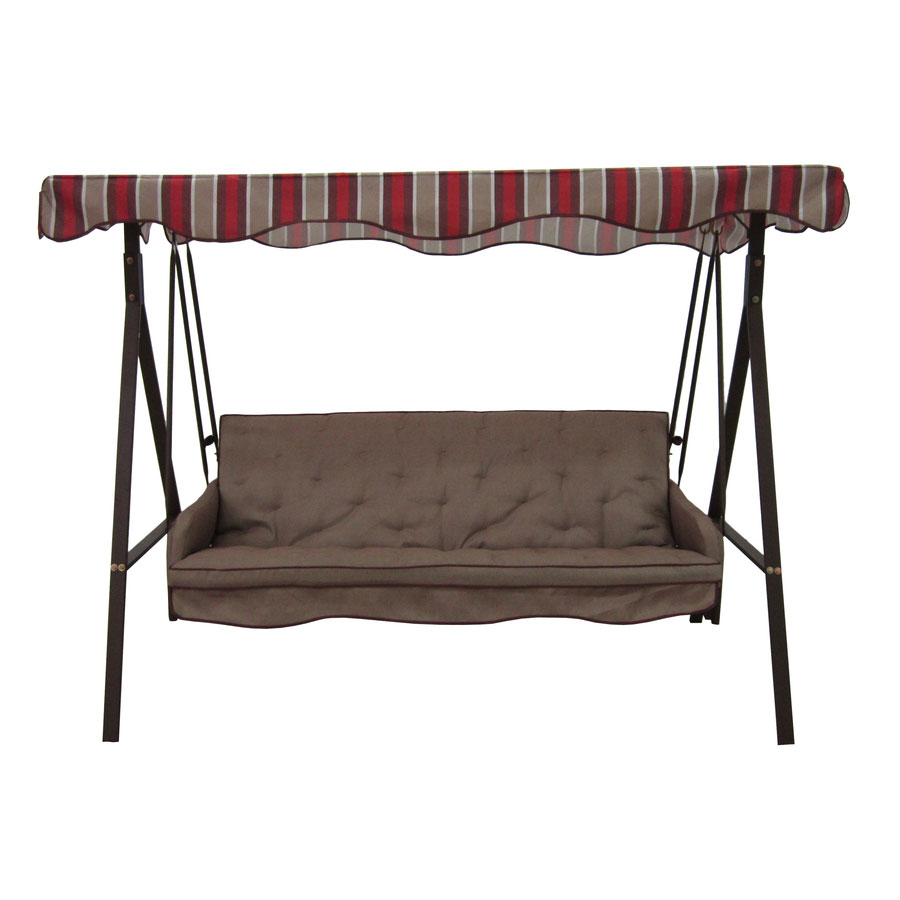 kohls outdoor chair cushions bar height adirondack plans replacement canopy for lowes 3 person swing - brown garden winds