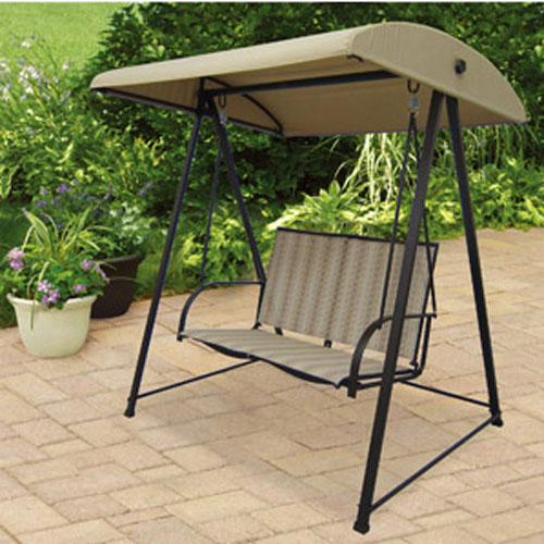 Mainstays Striped 2 Person Swing Replacement Canopy Garden Winds