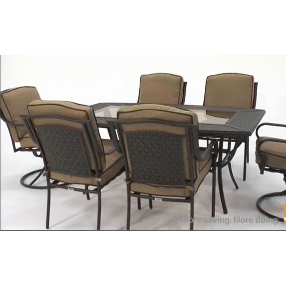 martha stewart patio chairs small camp chair mallorca dining replacement cushion set garden winds