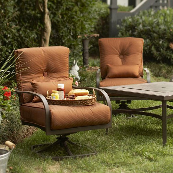 menards patio chair covers oversized recliner palm canyon fire pit replacement cushion - 2 pack garden winds
