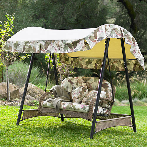 Walmart Palm Valley II Swing Replacement Canopy Garden Winds
