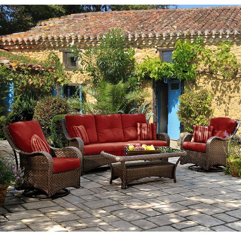 LazBoy Sams Club Palm Key Deep Seating Replacement Cushion Set Garden Winds