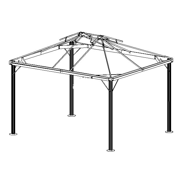 BJs Wholesale 10 x 12 Gazebo Canopy Replacement L-GZ106PAL