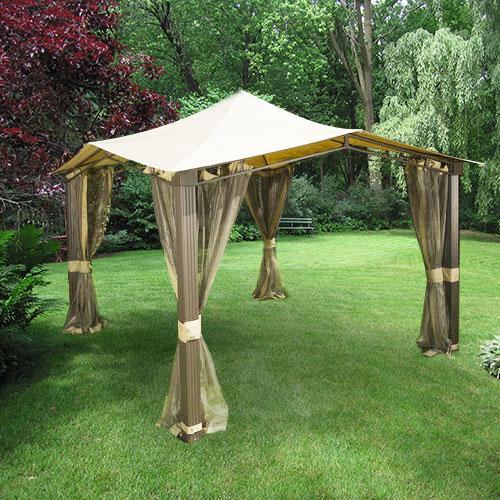 Sail Gazebo Replacement Canopy  RipLock 350 Garden Winds