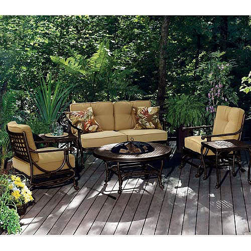 Belize Fire Put Conversation Replacement Cushion Set Garden Winds