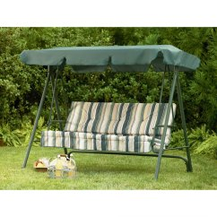 Patio Chair Cushions Walmart Thomasville Windsor Sears Garden Oasis 3 Person Swing Replacement Canopy Winds